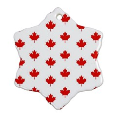 Maple Leaf Canada Emblem Country Snowflake Ornament (two Sides) by Celenk
