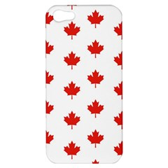 Maple Leaf Canada Emblem Country Apple Iphone 5 Hardshell Case by Celenk