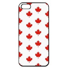 Maple Leaf Canada Emblem Country Apple Iphone 5 Seamless Case (black) by Celenk