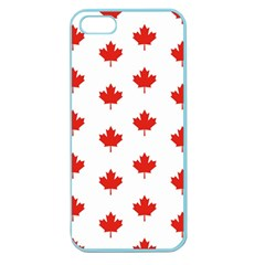 Maple Leaf Canada Emblem Country Apple Seamless Iphone 5 Case (color) by Celenk