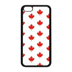 Maple Leaf Canada Emblem Country Apple Iphone 5c Seamless Case (black) by Celenk