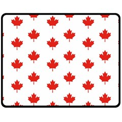 Maple Leaf Canada Emblem Country Double Sided Fleece Blanket (medium)  by Celenk