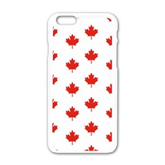 Maple Leaf Canada Emblem Country Apple Iphone 6/6s White Enamel Case by Celenk