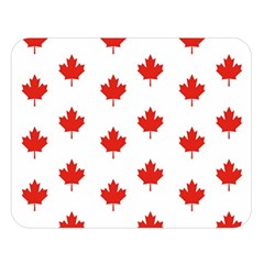Maple Leaf Canada Emblem Country Double Sided Flano Blanket (large)  by Celenk