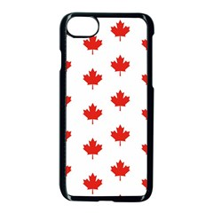 Maple Leaf Canada Emblem Country Apple Iphone 8 Seamless Case (black)