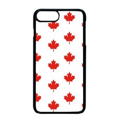 Maple Leaf Canada Emblem Country Apple Iphone 8 Plus Seamless Case (black) by Celenk