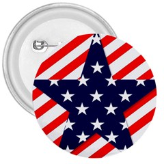 Patriotic Usa Stars Stripes Red 3  Buttons by Celenk