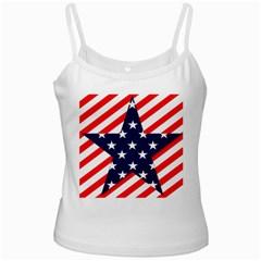 Patriotic Usa Stars Stripes Red Ladies Camisoles