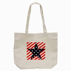 Patriotic Usa Stars Stripes Red Tote Bag (cream) by Celenk