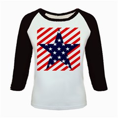 Patriotic Usa Stars Stripes Red Kids Baseball Jerseys