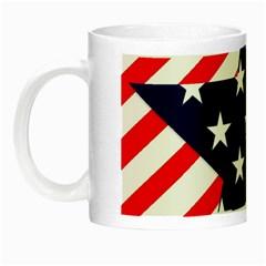 Patriotic Usa Stars Stripes Red Night Luminous Mugs