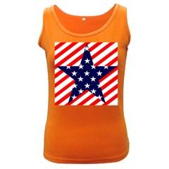 Patriotic Usa Stars Stripes Red Women s Dark Tank Top