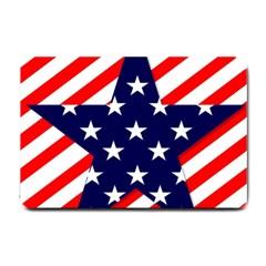 Patriotic Usa Stars Stripes Red Small Doormat