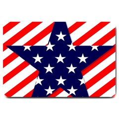 Patriotic Usa Stars Stripes Red Large Doormat  by Celenk