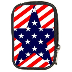Patriotic Usa Stars Stripes Red Compact Camera Cases by Celenk