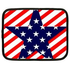 Patriotic Usa Stars Stripes Red Netbook Case (XXL)