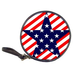 Patriotic Usa Stars Stripes Red Classic 20-CD Wallets
