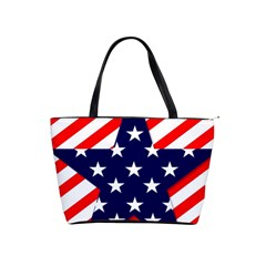 Patriotic Usa Stars Stripes Red Shoulder Handbags by Celenk