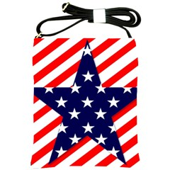 Patriotic Usa Stars Stripes Red Shoulder Sling Bags by Celenk