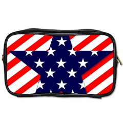 Patriotic Usa Stars Stripes Red Toiletries Bags 2 Side by Celenk