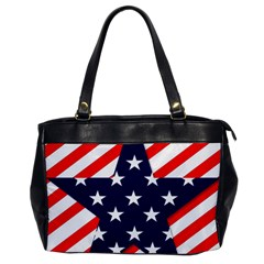 Patriotic Usa Stars Stripes Red Office Handbags by Celenk