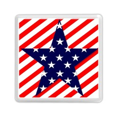 Patriotic Usa Stars Stripes Red Memory Card Reader (square)  by Celenk