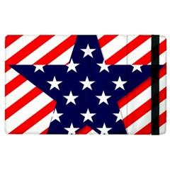 Patriotic Usa Stars Stripes Red Apple iPad 2 Flip Case