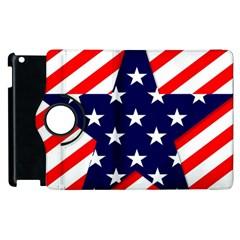 Patriotic Usa Stars Stripes Red Apple iPad 2 Flip 360 Case