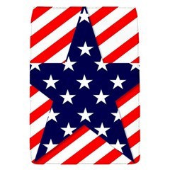 Patriotic Usa Stars Stripes Red Flap Covers (S)