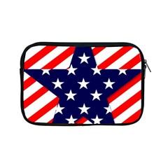 Patriotic Usa Stars Stripes Red Apple iPad Mini Zipper Cases