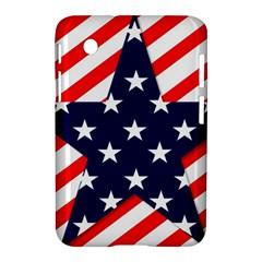 Patriotic Usa Stars Stripes Red Samsung Galaxy Tab 2 (7 ) P3100 Hardshell Case