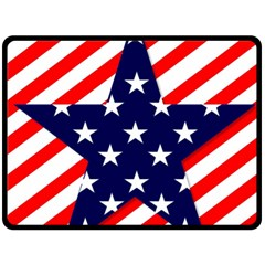 Patriotic Usa Stars Stripes Red Double Sided Fleece Blanket (large)  by Celenk