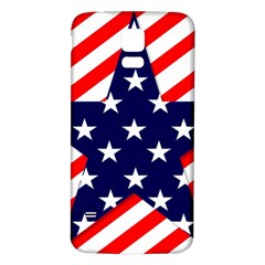 Patriotic Usa Stars Stripes Red Samsung Galaxy S5 Back Case (white) by Celenk
