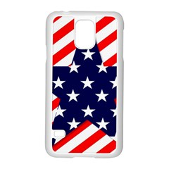 Patriotic Usa Stars Stripes Red Samsung Galaxy S5 Case (White)