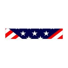 Patriotic Usa Stars Stripes Red Flano Scarf (Mini)