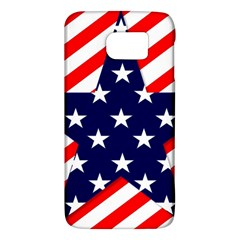 Patriotic Usa Stars Stripes Red Galaxy S6 by Celenk