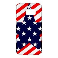 Patriotic Usa Stars Stripes Red Samsung Galaxy S7 Hardshell Case