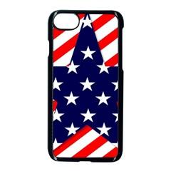 Patriotic Usa Stars Stripes Red Apple iPhone 7 Seamless Case (Black)
