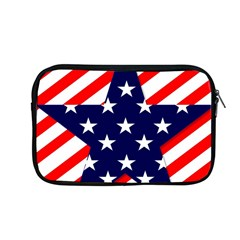 Patriotic Usa Stars Stripes Red Apple Macbook Pro 13  Zipper Case by Celenk