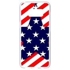 Patriotic Usa Stars Stripes Red Samsung Galaxy S8 White Seamless Case