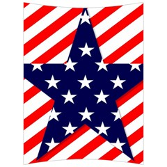 Patriotic Usa Stars Stripes Red Back Support Cushion by Celenk