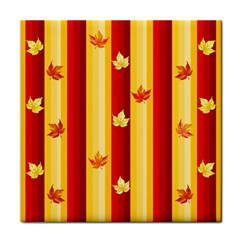 Autumn Fall Leaves Vertical Tile Coasters by Celenk