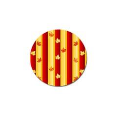 Autumn Fall Leaves Vertical Golf Ball Marker (10 Pack) by Celenk