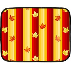 Autumn Fall Leaves Vertical Double Sided Fleece Blanket (mini)  by Celenk