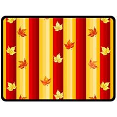 Autumn Fall Leaves Vertical Fleece Blanket (large)  by Celenk