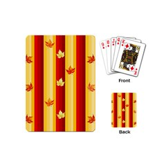 Autumn Fall Leaves Vertical Playing Cards (mini)  by Celenk