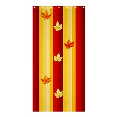 Autumn Fall Leaves Vertical Shower Curtain 36  X 72  (stall)  by Celenk