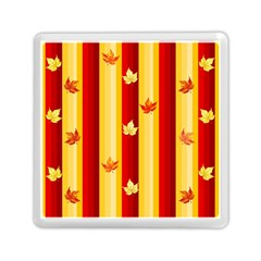 Autumn Fall Leaves Vertical Memory Card Reader (square)  by Celenk