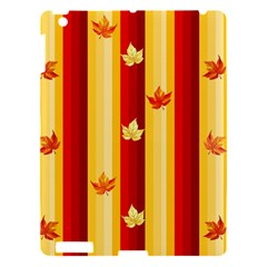 Autumn Fall Leaves Vertical Apple Ipad 3/4 Hardshell Case by Celenk