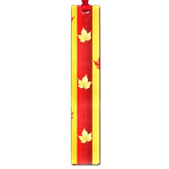 Autumn Fall Leaves Vertical Large Book Marks by Celenk